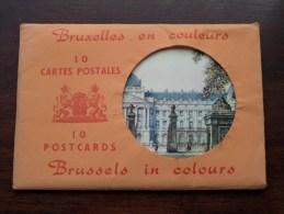 BRUXELLES - BRUSSELS In Colours / Carnet 10 Cartes Vues / Compleet ( PK / CP - Zie Foto´s Voor Details ) !! - België