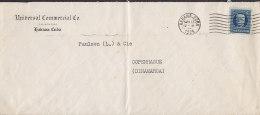 Cuba UNIVERSAL COMMERCIAL Co., HAVANA Habana 1925 Cover Letra To Denmark (2 Scans) - Cuba