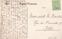 Berthem    Couvent Des Dames.   Prachtige Kaart Naar  Ixelles - Bertem