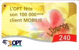 Nouvelle Caledonie Noumea Telecarte Phonecard Opt 100000 Client Mobilis Echantillon Gratuit 240 Francs Neuve UNC TB - Nouvelle-Calédonie