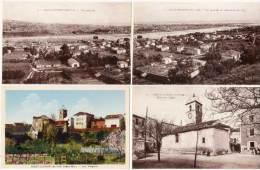 SAINT LAURENT DU VAR - 4 CPA - Pl. De L' Eglise, Les Remparts, Vue Générale ...   (68533) - Saint-Laurent-du-Var