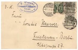 LETTRE COVER , 1920, POLOGNE, SCHÖNECK-BERLIN  /5171 - Storia Postale