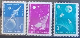 05 BULGARIA 1963 Mi 1388-90 Space Soviet Russia Rocket To The Moon - Mars Probes - MNH - Bulgaria
