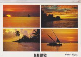 CPM  MALDIVES MULTIVUES  (voir Timbre) - Maldives