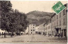 SAINT MARTIN DU VAR- Intérieur Du Village- La Place Neuve- Cachet Perlé De BEAULIEU (68558) - Other Municipalities