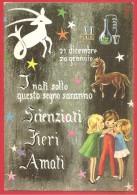 CARTOLINA VG ITALIA - ASTROLOGIA - Zodiaco - Capricorno - 10 X 15 - ANNULLO  VOLPAGO DEL MONTELLO 1966 - Astrología
