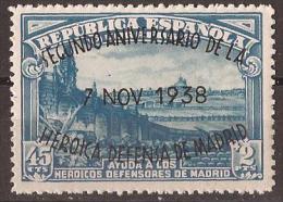 ES789-L4177TARSC.España.S Pain.Espagne DEFENSA DE MADRID 1938.  (Ed 789**)sin Charnela - Sin Clasificación