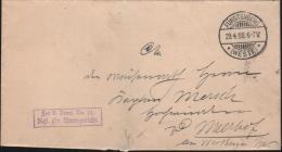 DEUTSCHES REICH - DIENSTPOST FÜRSTENBERG (WESTF.) 29.4.1898 - Dienstpost