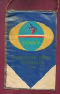W68 / SPORT - European Championship 1974 KOTAWICE Wrestling Lutte Ringen - 14 X 22.5 Cm. Wimpel Fanion Flag POLAND - Other