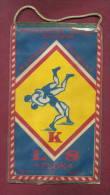 W73 / SPORT - Championship 1978 MILICZ  Wrestling Lutte Ringen  12.5 X 21.5 Cm. Wimpel Fanion Flag  Poland Pologne - Lotta (Wrestling)