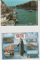 R : Hérault :    SETE -  CETTE  :  Vue   2  Cartes - Sete (Cette)
