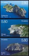 CROATIA - Set 3 Stamps - LIGHTHOUSES - 2014 - Croatie