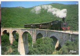 Jolie CP Grèce Pelio Pilio Pilion ? The Little Train Of Pelion - Transport Rail Locomotive Fumée Pont .. - Cp Pas écrite - Griekenland