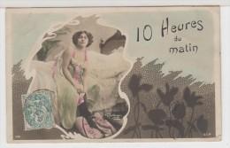 FEMMES - FRAU - LADY -  Charmante Jeune Femme Sur Lit - 10 Heures Du Matin - Signée Reutlinzer - Femmes