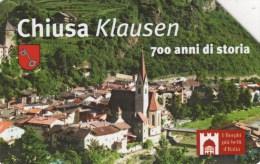 *ITALIA: I BORGHI PIU' BELLI - CHIUSA* - Scheda Usata - Public Practical Advertising