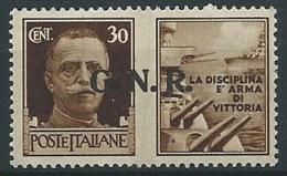 1944 RSI PROPAGANDA DI GUERRA GNR VERONA 30 CENT MNH ** - ED504-3 - 4. 1944-45 Repubblica Sociale