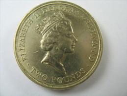 UK GREAT BRITAIN TWO POUNDS 2 COIN 1986 EDGE LETTERED   LOT 29 NUM 4 - 1971-… : Monete Decimali
