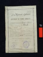 CERTIFICAT DE BONNE CONDUITE -- 91° REGIMENT INFANTERIE -- 1902 ......... - Documents