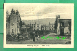 Alte Wallonien Luxemburg Feldpost AK Ethe / Belgien 1915  Weltkrieg 1914/15  - Großes Hauptquartier - - Virton
