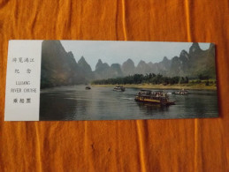 TICKET - CHINE - BATEAU - LIJIANG RIVER CRUISE - ANNEE 80 - Billets D'embarquement De Bateau