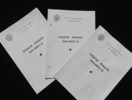MANUEL POSTE RADIO AN /  GRC 9  .........