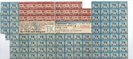 SWEDEN - WAR RATION CARD JAN 1945 WW2 (original) TEXTILE