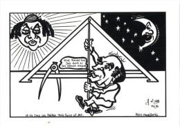 ILLUSTRATION J.LARDIE  -  LA VIE CHEZ LES FRERES TROIS POINTS N° 197 -  FRANC MACONNERIE  -  1990  - - Lardie
