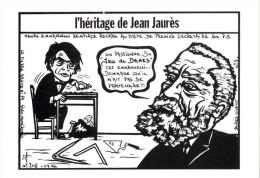 ILLUSTRATION J.LARDIE  -  LA PIERRE BRUTE  N° 77 -  FRANC MACONNERIE  -  1994  -   JAURES - Lardie