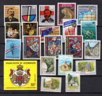 1989 Année Complète, Caritas, Europa, Carnet, Etc, 1164 / 1185**, Cote 52,70 € - Luxemburg