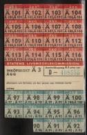 SWEDEN - WAR RATION CARD APRIL 1945 WW2 (original) EGGS