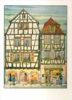 68 COLMAR Au Vieux Quartier Aquarelle G Ratkoff, L'Alsace Eternelle - Colmar