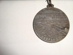 """R. SMG. BARBARIGO 6-10-42 XX Front Of The Medal """"Chi Teme La Morte Non è Degno Di Vivere"""" - Italy"""