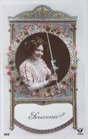 FANTAISIE - Souvenir - CPA - Femme, Voyance, Carte à Jouer, Cartomancie - Cartes à Jouer