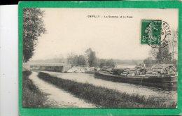 D 80 - CHIPILLY - La Somme Et Le Pont -  Belle Péniche Chargée De Bois - - Autres Communes