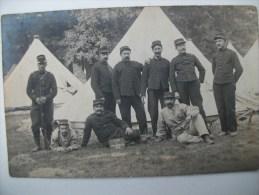 CARTE PHOTO MILITAIRE Camp De FONTAINEBLEAU-30éme D'Artillerie De Territorial-1908 - Documents
