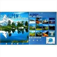 Foto Kalender Alpen 2001  -  Schöne Motive  -  25,5 X 25,5 Cm - Calendars