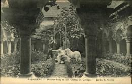 N°20  JJ   BERGERAC MOUNET SULLY EN SON CHATEAU DE GARRIGUE JARDIN DU CLOITRE - Bergerac