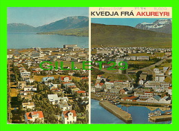 ISLANDE - ICELAND  - KVEDJA FRA AKUREYRI - TRAVEL IN 1974 - - Islande