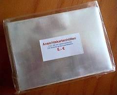 Ansichtskartenhüllen Nr.2 Für Neue AK 110x155 Mm 100 Stück Glasklar & Weichmacherfrei - Zubehör