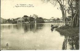CPA  HANOI, Pagode Et Pont Sur Le Petit Lac 10048 - Vietnam