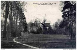 CPA, Aisne, Nogent-l´Artaud, L´Eglise Et Le Parc Du Château - Frankreich
