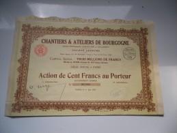 CHANTIERS ET ATELIERS DE BOURGOGNE (1923) - Shareholdings