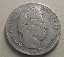 1842 - France - 5 FRANCS, LOUIS PHILIPPE 1er, (W), Lille, Domard, Tête Laurée, Argent, Silver, KM 749.13, Gad 678 - J. 5 Francs