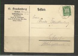 TOP!! DEUTSCHES REICH * KARTE VON CHEMNITZ NACH ERFURT * 1924  **! - Briefe U. Dokumente