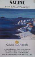 AFFICHE SALENC  Galerie Antinéa Marseille 2002 PAYSAGE MARINE RIVAGE - Afiches