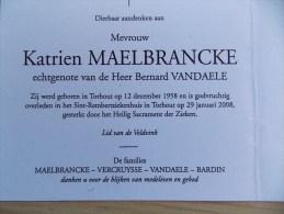 Doodsprentje Katrien Maelbrancke Torhout 12/12/1958 - 29/1/2008 ( Bernard Vandaele ) - Religion &  Esoterik