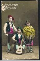 TERUEL HUESCA ZARAGOZA Niños En Trajes Tipicos España Spain GUITAR MUSIC CHILDREN ( 2 Scans) - Huesca