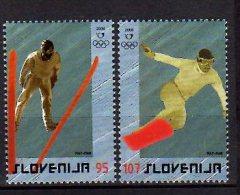 2006 Slovenia  / Slowenien - Olympic In Tourin - 2 V - Paper - MNH** MI 574/575 Snowboard, Sky Jumping - Slovénie