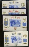 Les 4 Blocs Avec Numéros  ORVAL  **  Cote 175 Euros - Unused Stamps
