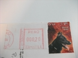 STORIA POSTALE FRANCOBOLLO COMMEMORATIVO Peru Cane Animali Multivedute - Perù